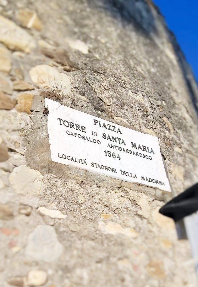 piazza di Torre Santa Maria, San bartolomeo al Mare